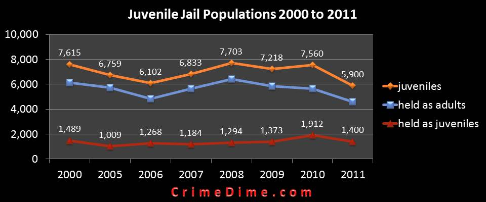 juvenile delinquency - youths in adult prisons essay Youth incarceration in the united states  the act required that states holding youth within adult prisons for status offenses remove them within a span of two.